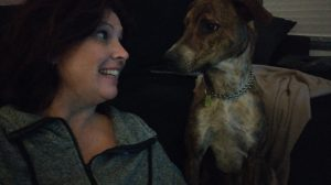 Valentine's Day Michelle and her dog Wally