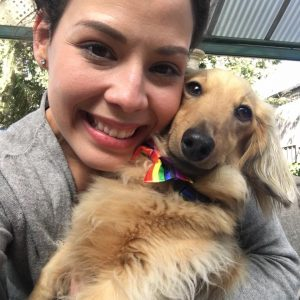 October Pet Sitter Susana with Dog